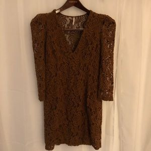 Free People Brown Lace Dress